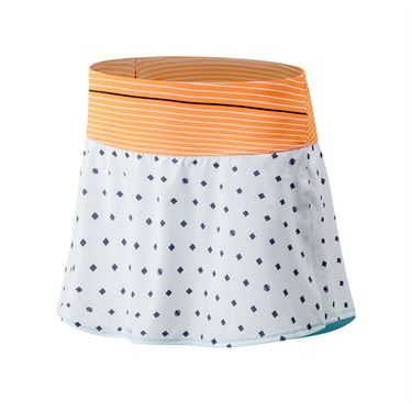 New Balance Printed Tournament Skirt Womens White/Citrus Punch WK03438 AUS