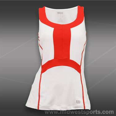Wilson Ashland Colorblock Tank -White/Wilson Red