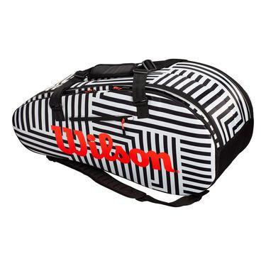 Wilson Super Tour Bold 9 Pack Tennis Bag - Black/White