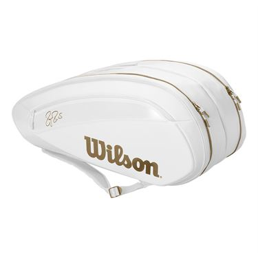 Wilson Federer DNA 12 Pack Tennis Bag - White/Gold