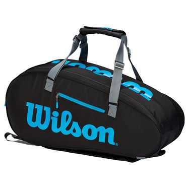 Wilson Ultra 9 Pack Tennis Bag - Black/Blue/Silver