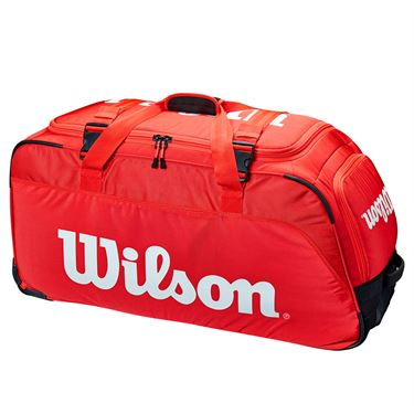Wilson Super Tour Travel Wheeled Bag - Red