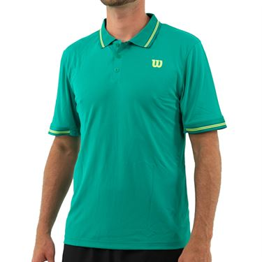Wilson 2019 US Open Star Tipped Polo Shirt Mens Deep Green WRA744808
