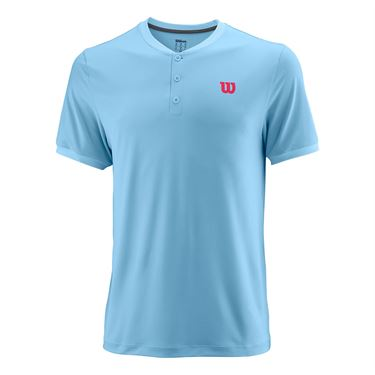 Wilson Henley Crew Mens Airy Blue WRA762902