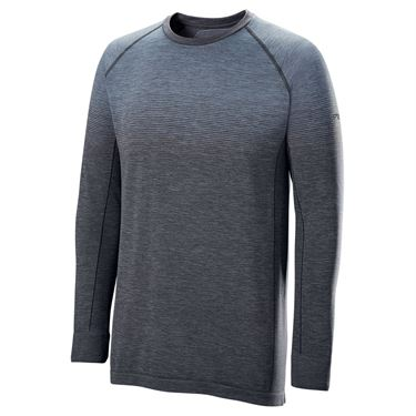 Wilson F2 Seamless Long Sleeve Shirt Mens Flint/Ebony WRA774702