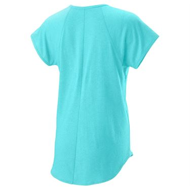 Wilson Training V Neck Tee Womens Island Paradise WRA775902