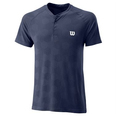 Wilson Power Seamless Henley Crew Mens Peacoat WRA778803û