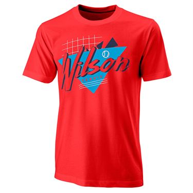 Wilson Nostalgia Tech Tee Mens Infrared WRA779403
