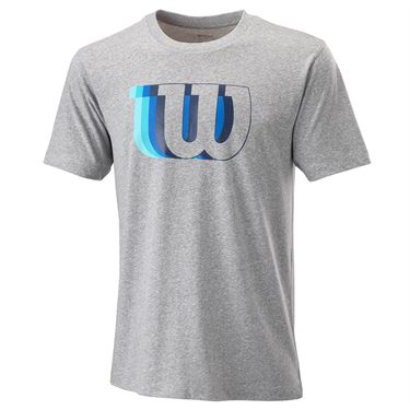Wilson Blur Tech Tee Mens Heather Grey WRA779602