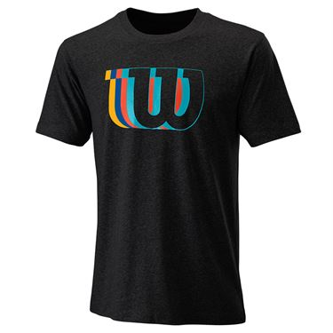 Wilson Blur Tech Tee Mens Black WRA779603