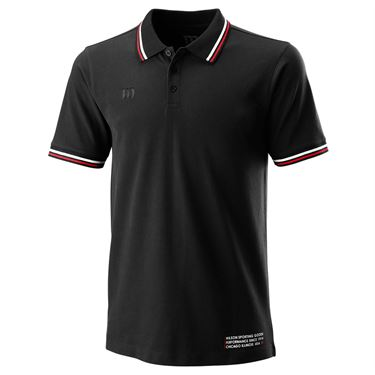 Wilson Since 1914 Pique Polo Mens Black WRA780102