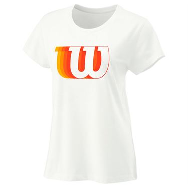 Wilson Blur Tech Tee Womens White WRA781201