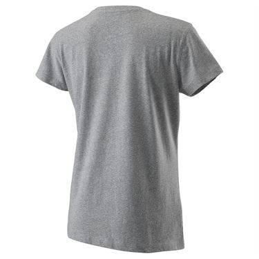 Wilson Blur Tech Tee Womens Heather Grey WRA781202