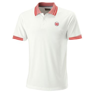 Wilson Pro Staff Classic Tipped Polo Mens White WRA785201