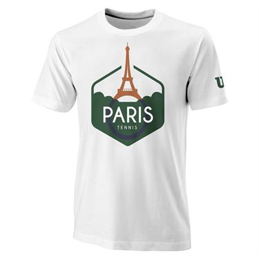 Wilson Paris Tech Tee Mens White WRA788201