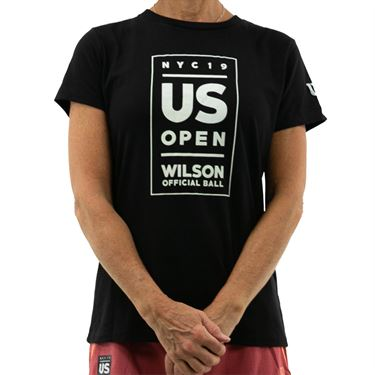 Wilson 2019 US Open Lockup Tee Shirt Womens Black WRAX023BL