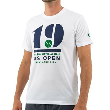Wilson 2019 US Open Tee Shirt Mens White WRAX027WH