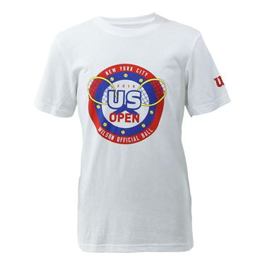Wilson 2019 US Open Youth Hero Tee Shirt White WRAX031WH