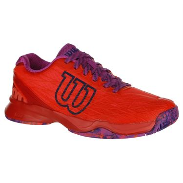 Wilson Kaos Womens Tennis Shoe - Fiery Coral/Fiery Red/Rose