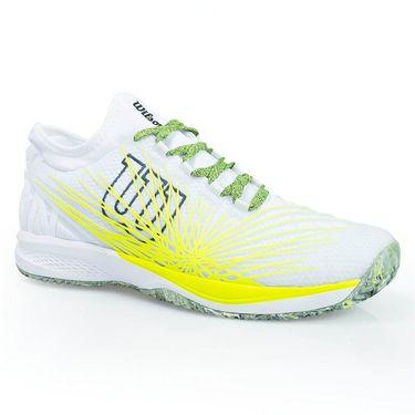 Wilson Kaos SFT 2.0 Mens Tennis Shoe - White/Safety Yellow/Ebony