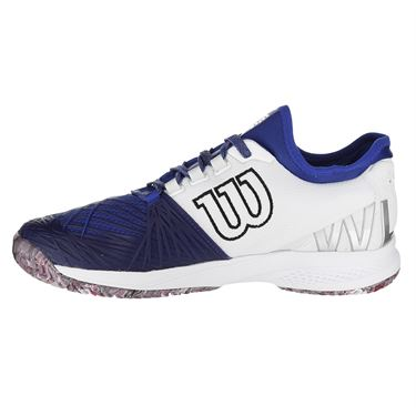 Wilson Kaos SFT 2.0 Mens Tennis Shoe - Maze Blue/White/Neon Red