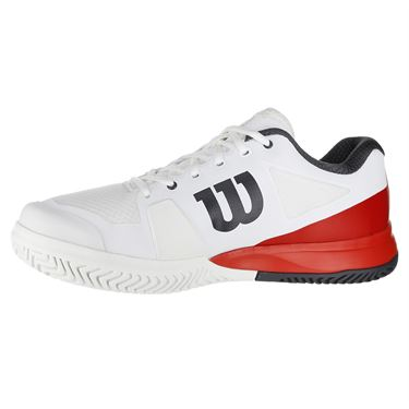 Wilson Rush Pro 2.5 Mens Tennis Shoe - White/Fiery Red/Ebony
