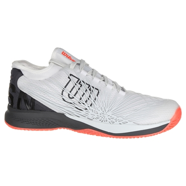Wilson Kaos 2.0 SFT Mens Tennis Shoe - White/Ebony/Fiery Coral