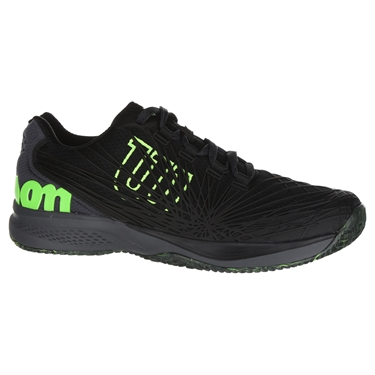 Wilson Kaos 2.0 Mens Tennis Shoe - Black/Ebony/Gecko Green
