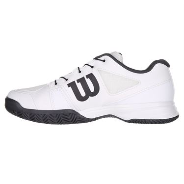 Wilson Rush Pro QL Junior Tennis Shoe - White/Ebony
