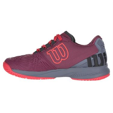 Wilson Kaos 2.0 Womens Tennis Shoe - Plum/Flint Stone/Neon Red