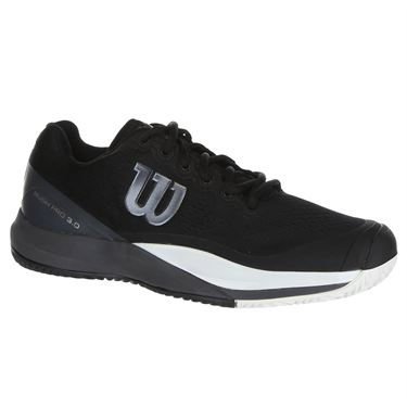 Wilson Rush Pro 3.0 Mens Tennis Shoe - Black/Ebony/White