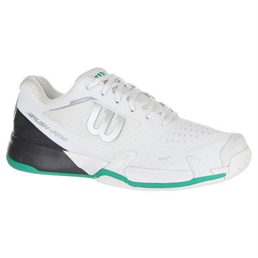 Wilson Rush Pro 2.5 Mens Tennis Shoe 2019 - White/Ebony/Deep Green