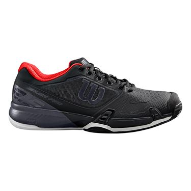 Wilson Rush Pro 2.5 Mens Tennis Shoe Black/Ebony/Wilson Red WRS325570