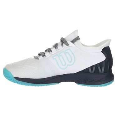 Wilson Kaos 2.0 SFT Womens Tennis Shoe - White/Blueberry/Peacock Blue