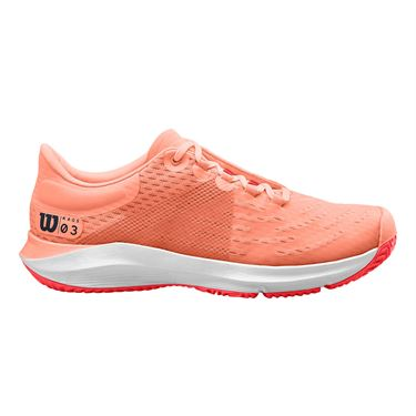 Wilson Kaos 3.0 Womens Tennis Shoe Tropical Peach/White/Cayenne WRS326140
