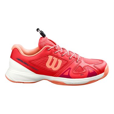 Wilson Rush Pro QL Junior Tennis Shoe Cayenne/White/Papaya Punch WRS326250