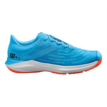 Wilson Kaos 3.0 Junior Tennis Shoe Bonnie Blue/White/Tangerine Tango WRS326460