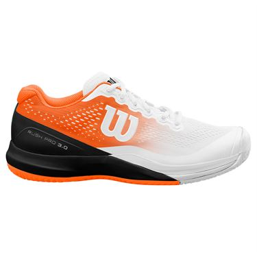Wilson Paris Rush Pro 3.0 Mens Tennis Shoe White/Shocking Orange/Black WRS326870