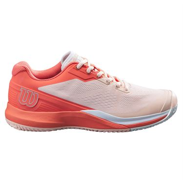 Wilson Rush Pro 3.5 Womens Tennis Shoe Tropical Peach/Hot Coral/White WRS327320