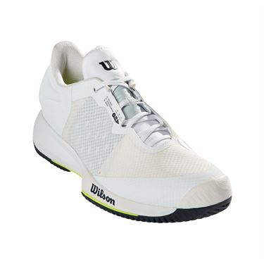 Wilson Kaos Swift Mens Tennis Shoe White/Outer Space/Safety Yellow WRS327520