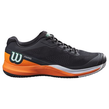 Wilson Rush Pro 3.5 Paris Mens Tennis Shoe White/Shocking Orange/Black WRS327710