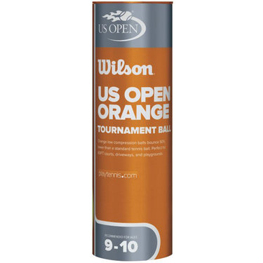 Wilson US Open Orange Tournament Transition Tennis Balls (Case)