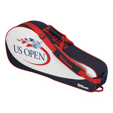 Wilson US Open Triple Tennis Bag 2017 - Navy/White
