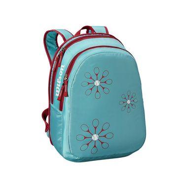 Wilson Junior Backpack - Light Blue/Red