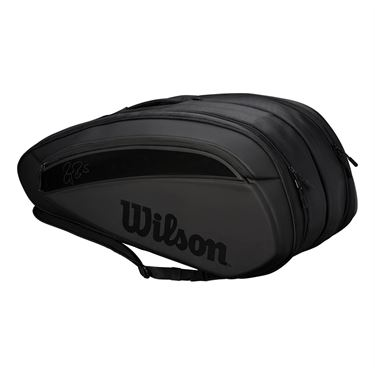 Wilson Federer DNA 12 Pack Tennis Bag - Black