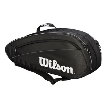 Wilson Federer Team 6 Pack Tennis Bag - Black/White