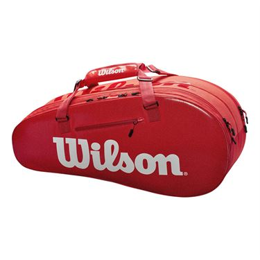 Wilson Super Tour 6 Pack Tennis Bag - Infrared