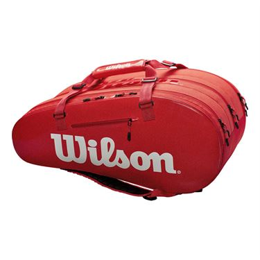 Wilson Super Tour 15 Pack Tennis Bag - Infrared