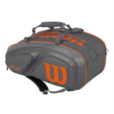 Wilson Tour V 15 Pack Tennis Bag - Grey/Orange