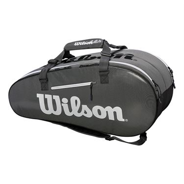 Wilson Super Tour 9 Pack Tennis Bag - Black/Grey